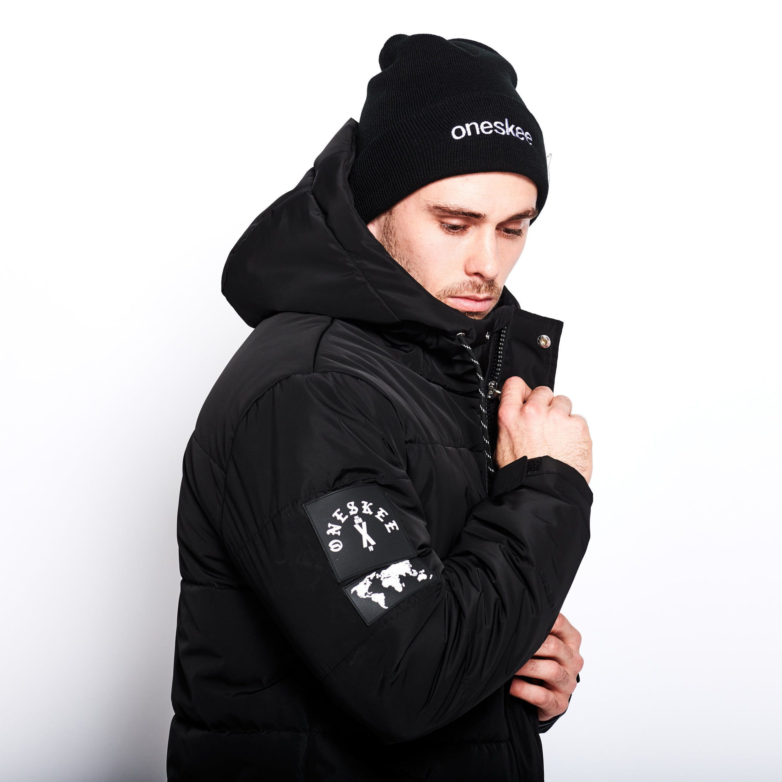 Technical Puffer Jacket - Black image 7
