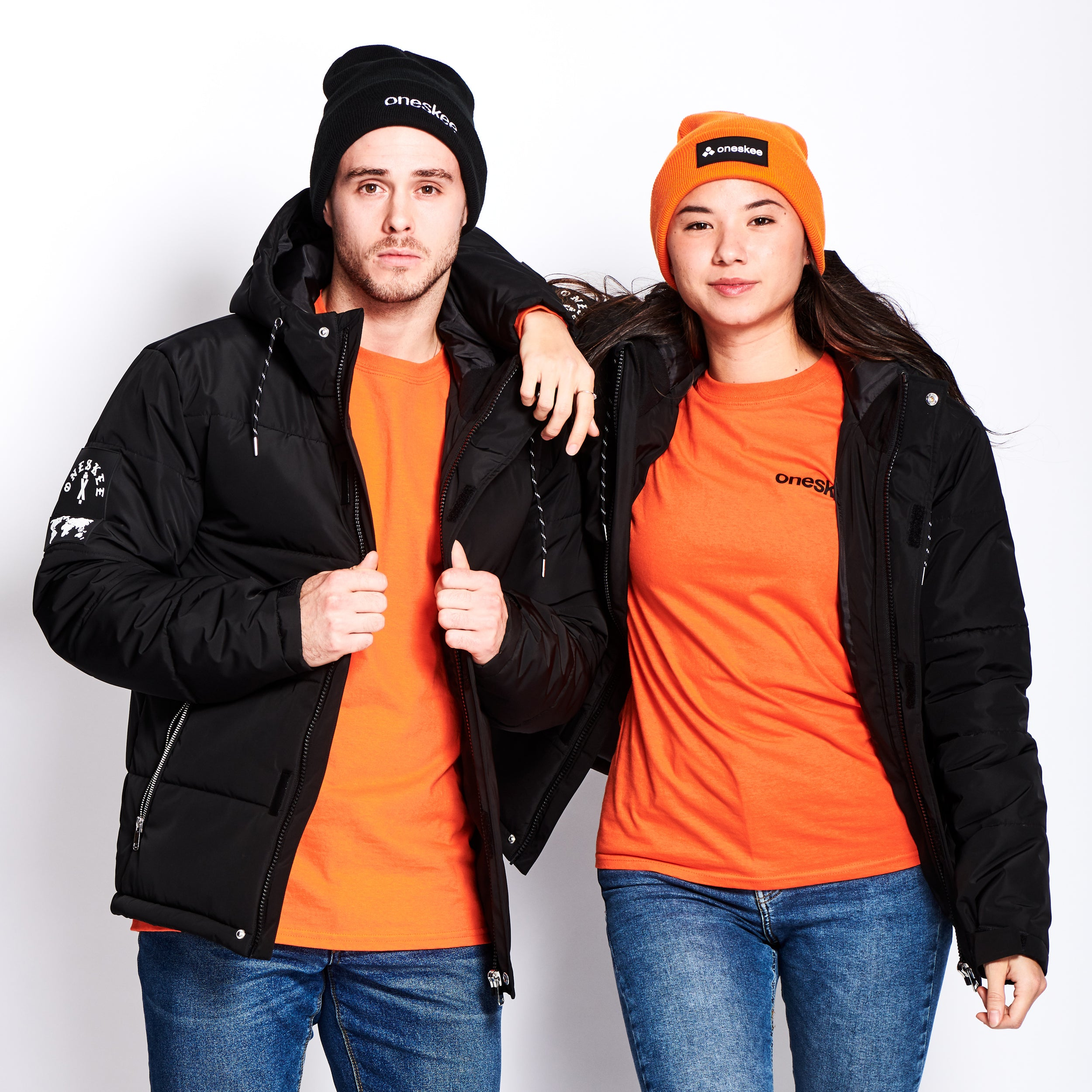 Technical Puffer Jacket - Black image 1