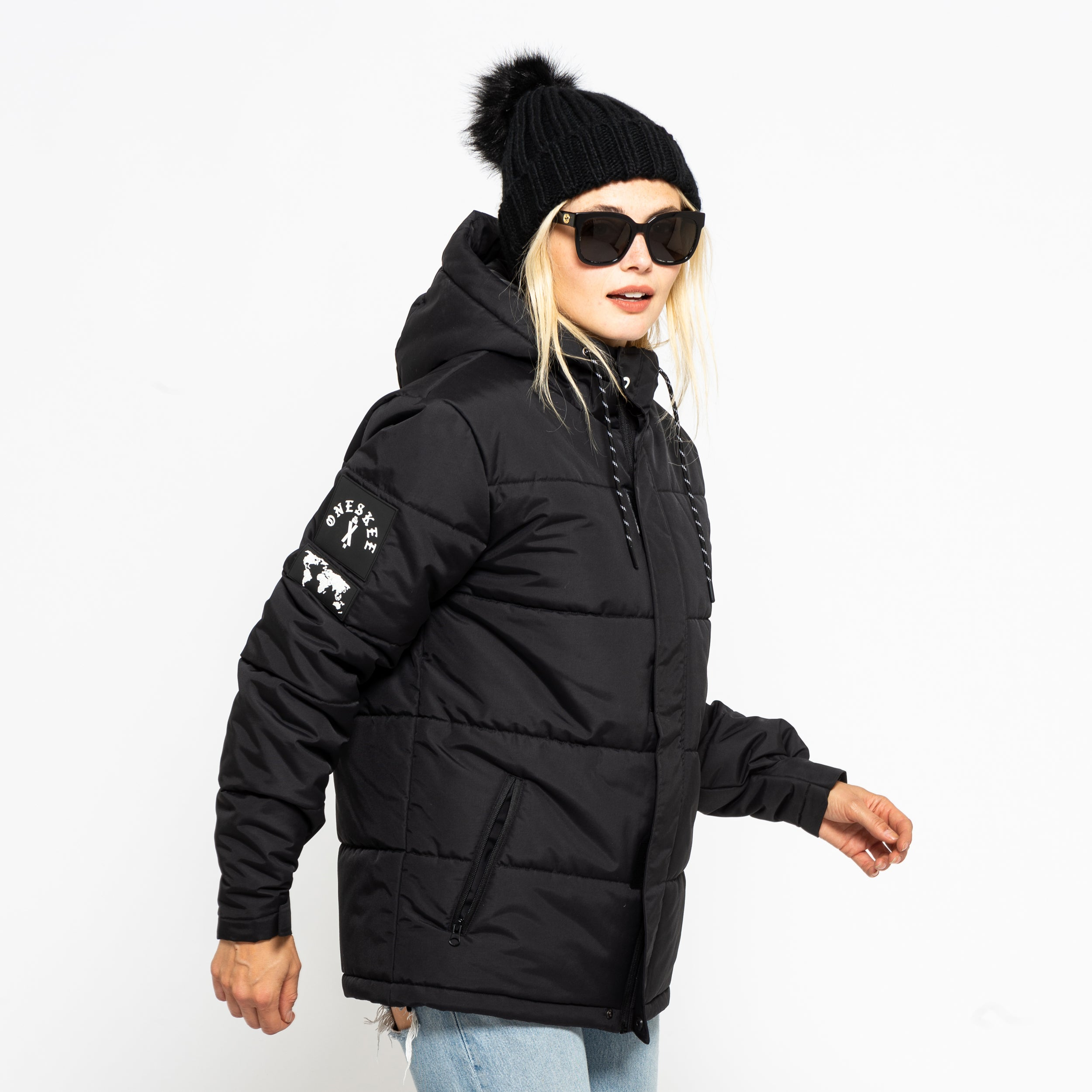 Technical Puffer Jacket - Black image 4