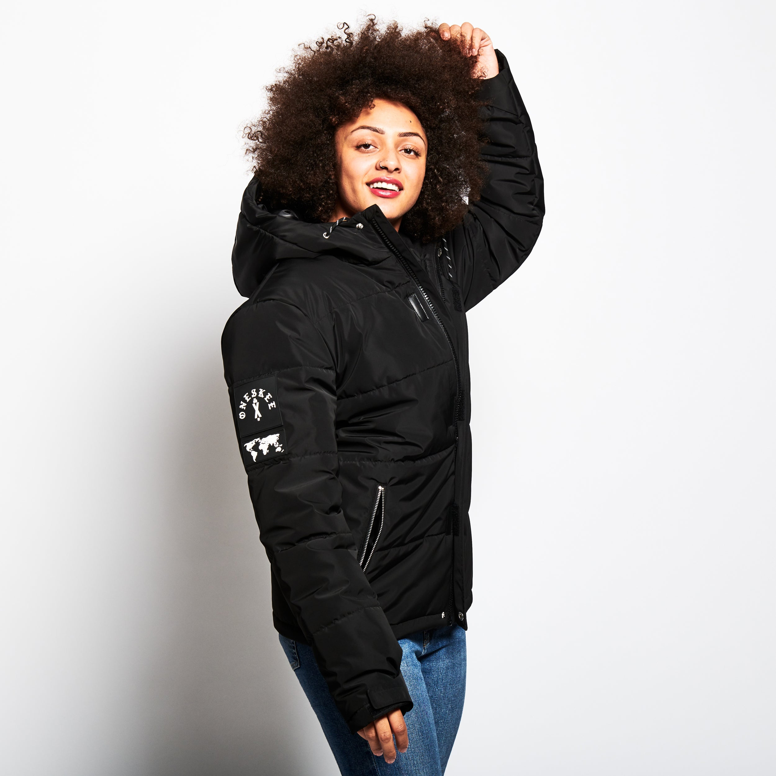 Technical Puffer Jacket - Black image 6