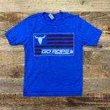 Youth Flag Tee - Royal Blue