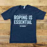 Youth Roping Is Essential Tee - Charcoal