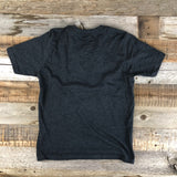 Youth Boys Tee - Charcoal/Sky Blue