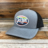 Serape Patch Trucker Hat- Grey/Black