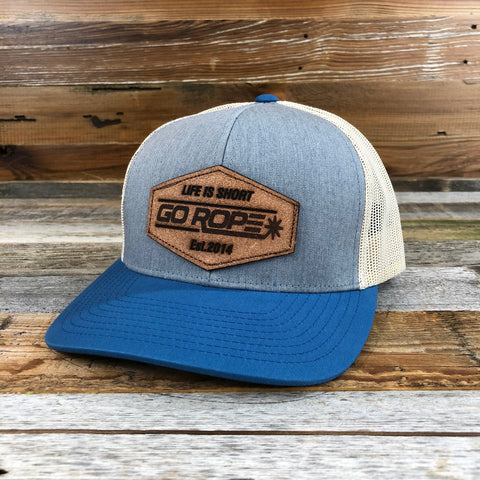 Roughout Patch Hat - Grey/Blue