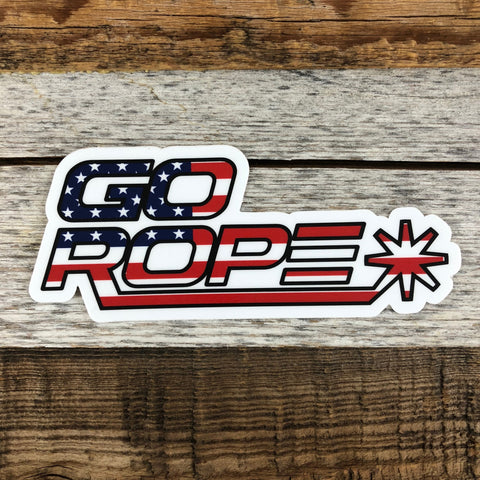 Red, White, & Blue Go Rope Decal
