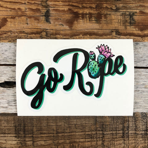 Cactus Go Rope Vinyl Decal