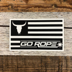 Go Rope Flag Vinyl Decal