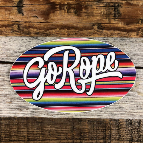 Serape Go Rope Vinyl Decal