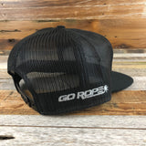 Go Rope Steer Flat-bill Trucker Hat- Heather Grey/Black