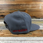 Go Rope Steer Patch Flat-bill Trucker Hat- Grey