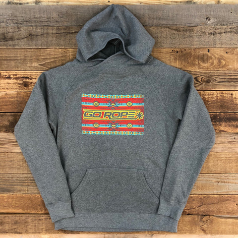Women's Aztec Logo Hoodie - Heather Grey