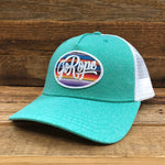 Serape Patch Trucker Hat- Seafoam/White