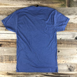 Unisex Faded Tee- Royal Blue