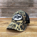 NEW Distressed Leopard Ponytail Cap