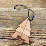 Leather Tree Ornament