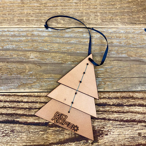 NEW Leather Tree Ornament