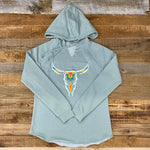 NEW Women's Aztec Steer Head Lightweight Hoodie
