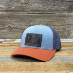 Tricolor Steer Flag Leather Patch Hat