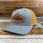 Roughout Patch Hat - Amber/Grey Bill