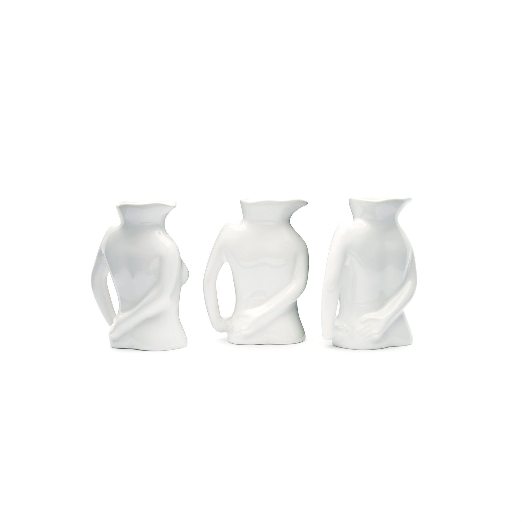Mini Jugs Jug Trio White Shiny