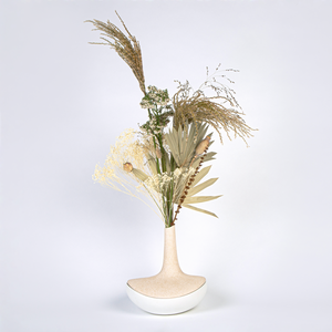 Jewellery Box Vase Beige Speckled / White Matte