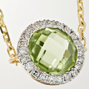 Circle Peridot Chain Ring