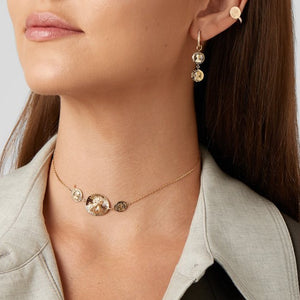 Louise d'Or Double Coin Earring