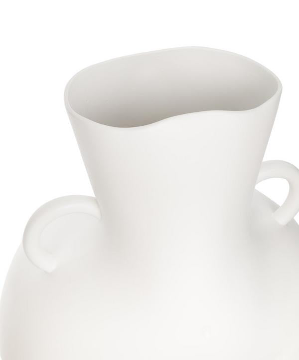 Large Love Handles Vase White Matte