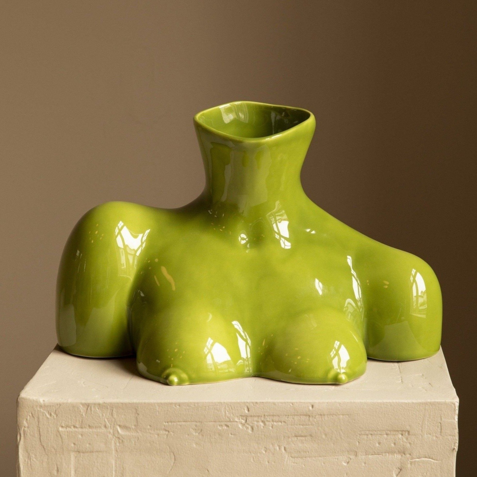 Breast Friend Vase Olive
