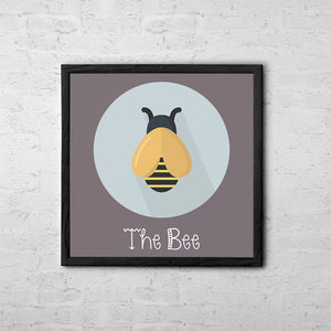 The Bee Cute Portrait - Baby Room Nursery Art Poster Print