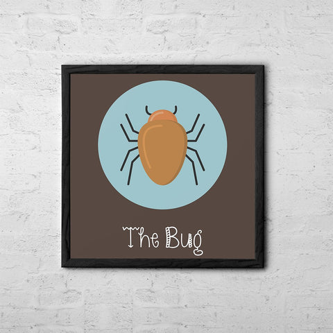 The Bug Cute Portrait - Baby Room Nursery Art Poster Print