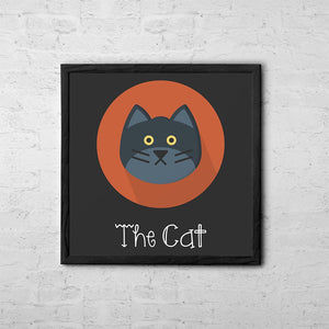 The Cat Cute Portrait - Baby Room Nursery Art Poster Print