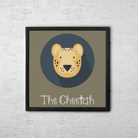 The Cheetah Cute Portrait - Baby Room Nursery Art Poster Print