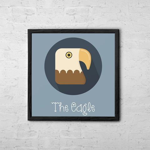 The Eagle Cute Portrait - Baby Room Nursery Art Poster Print