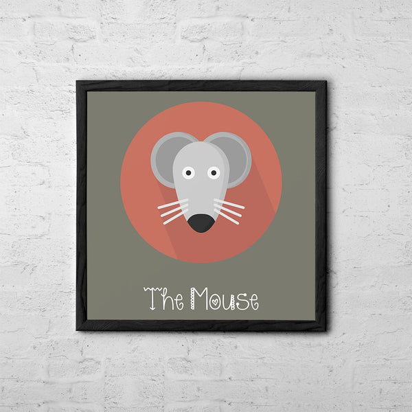 The Mouse Cute Portrait - Baby Room Nursery Art Poster Print