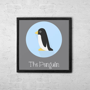 The Penguin Cute Portrait - Baby Room Nursery Art Poster Print