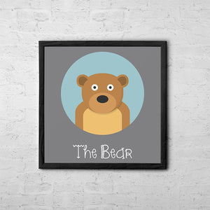 The Bear Cute Portrait - Baby Room Nursery Art Poster Print