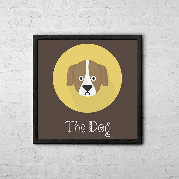 The Dog Cute Portrait - Baby Room Nursery Art Poster Print