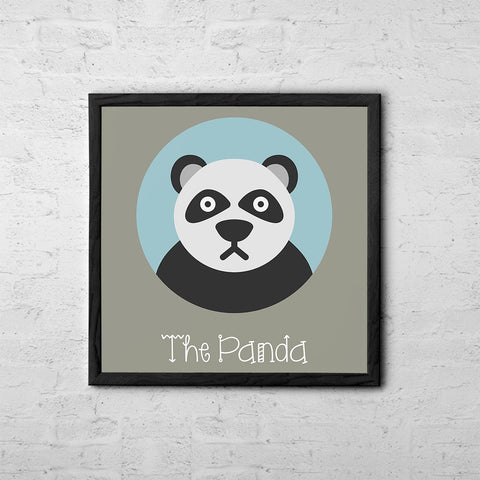 The Panda Cute Portrait - Baby Room Nursery Art Poster Print