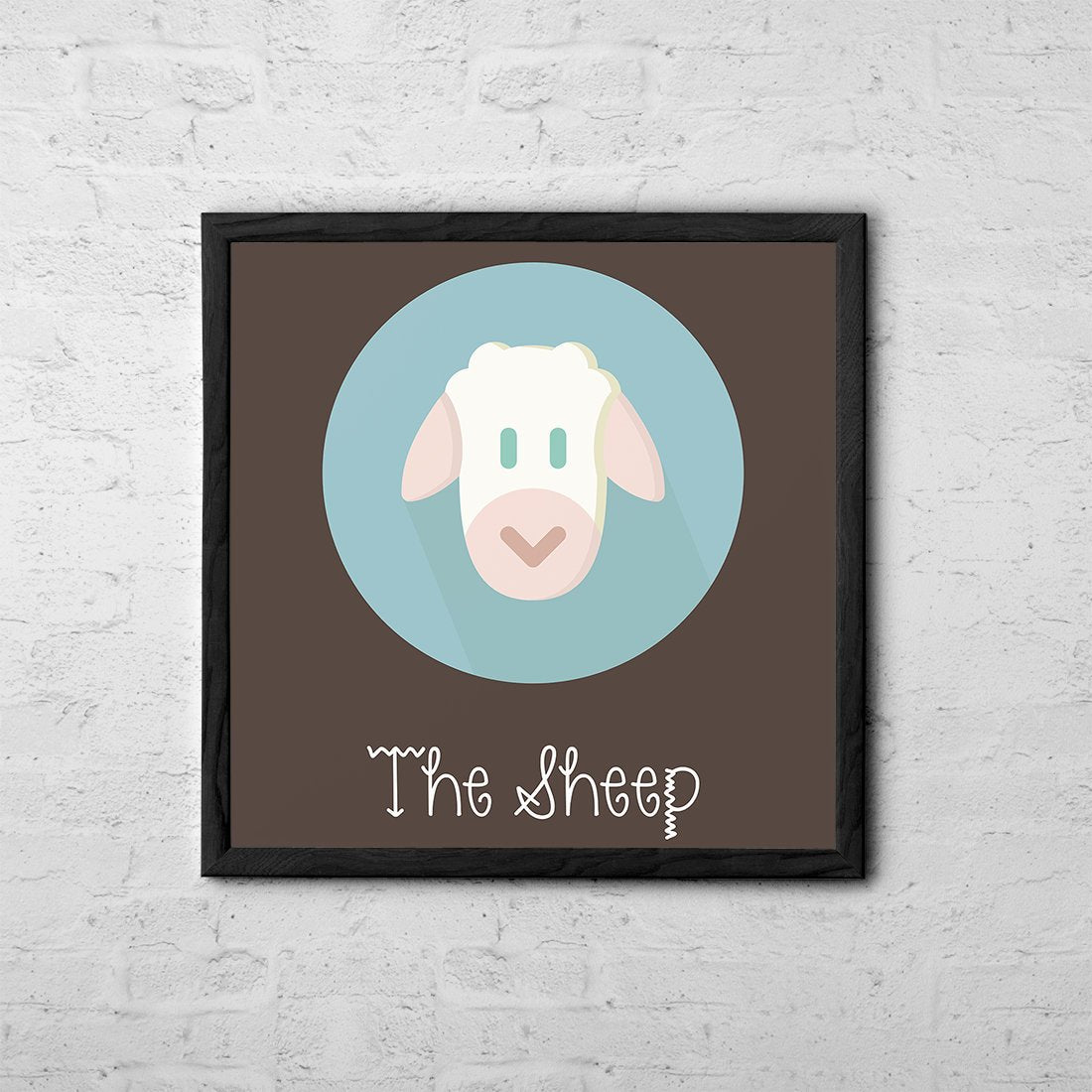 The Sheep Cute Portrait - Baby Room Nursery Art Poster Print