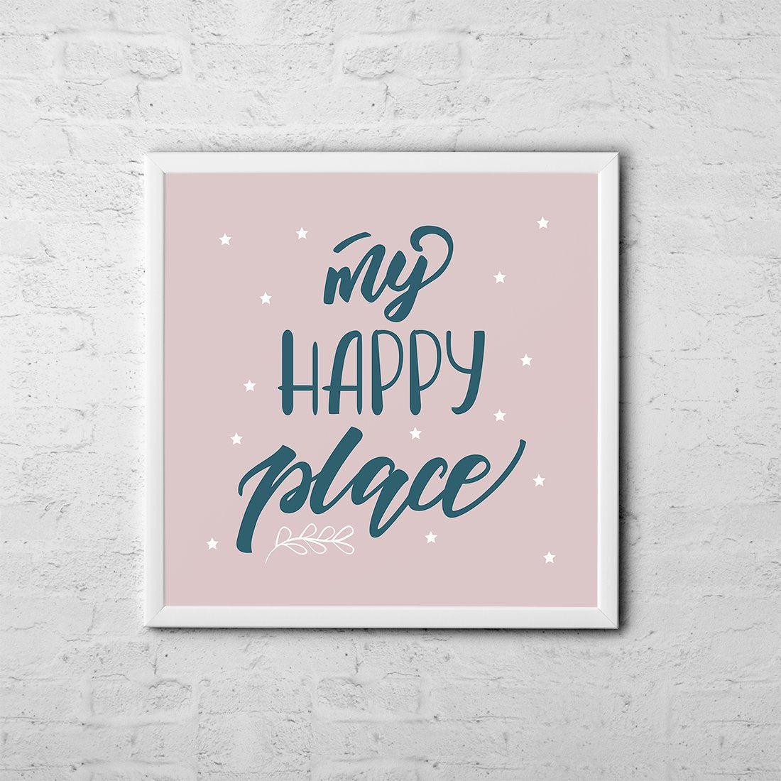 My Happy Place - Baby Room Nursery Art Poster Print