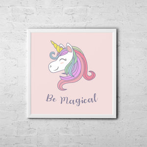 Be Magical - Baby Room Nursery Art Poster Print