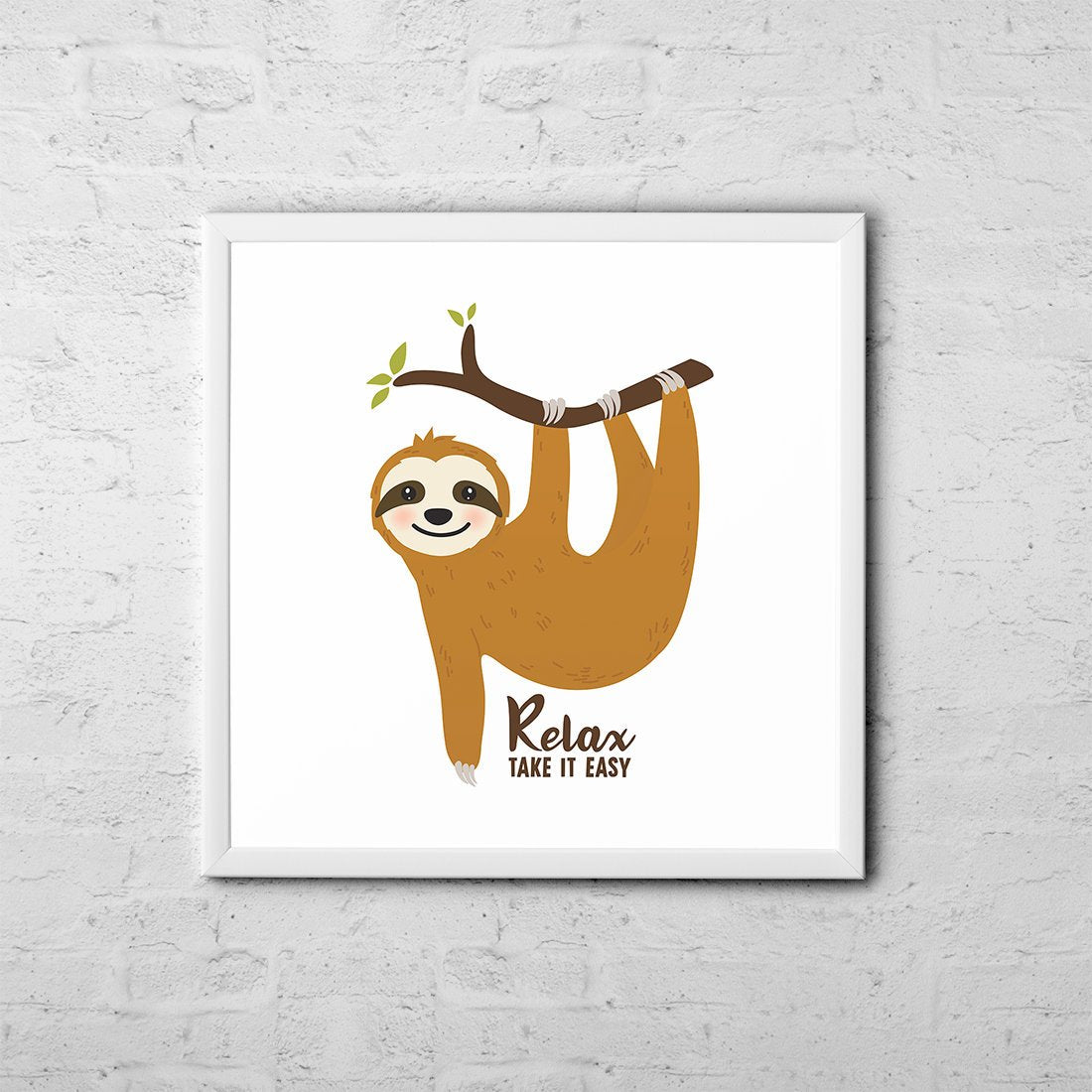 Relax Take It Easy - Baby Room Nursery Art Poster Print