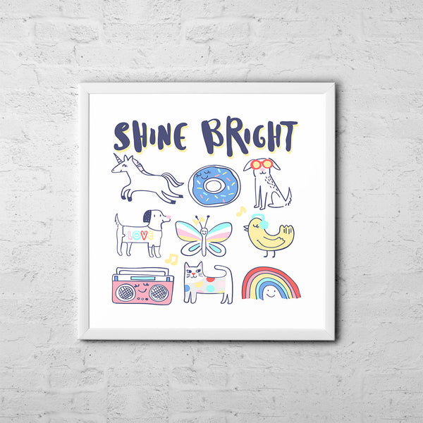 Shine Bright - Baby Room Nursery Art Poster Print