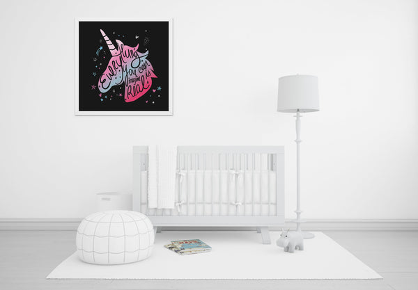 Everything You Can Imagine Is Real - Baby Room Nursery Art Poster Print