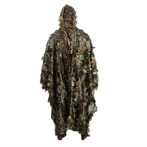 Lifelike 3D Leaves Camouflage Poncho Cloak Stealth - (Col: Hunting)