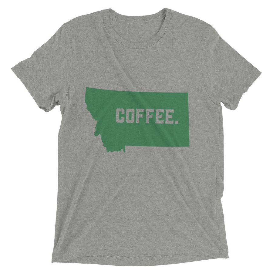 COFFEE - MONTANA - Tri Blend t-shirt