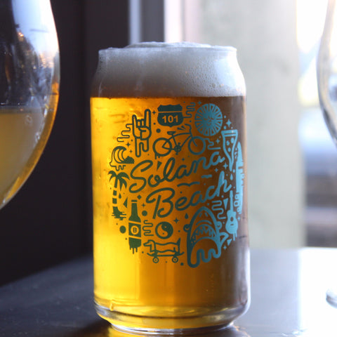 Bottlecraft Solana Beach 16oz Can Glass