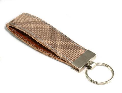 BMW Uberkaro Brown keychain